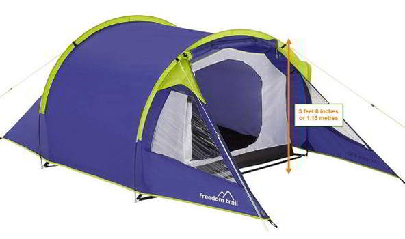 2 Person Budget Tent - Silverstone Classic