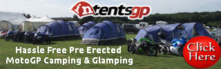 pre-erected motogp camping and glamping with intentsGP