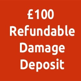 £100 refundable damage deposit
