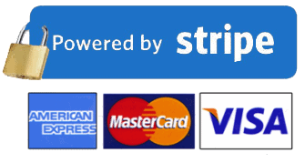 All payments secured by Stripe